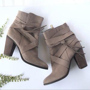 Steve Madden Ferrah tassel boots cream fringe heel